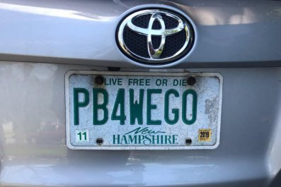 New Hampshire PB4WEGO License Plate