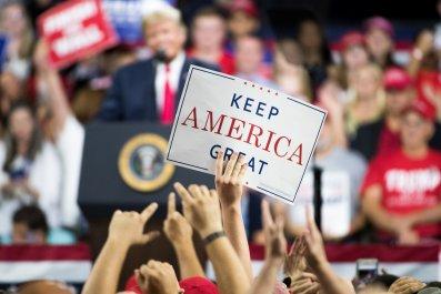 Donald Trump, 2020, logo, white supremacy