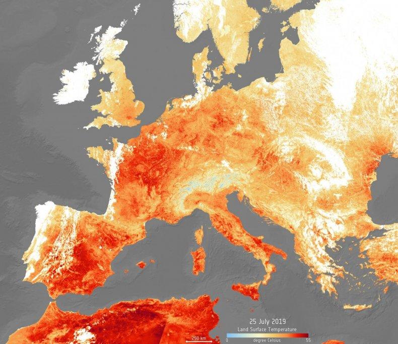 Europe heat trends