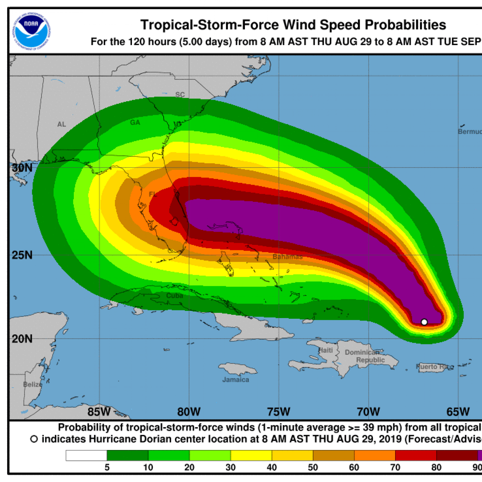 Hurricane Dorian Path Update Storm Could Hit Florida As