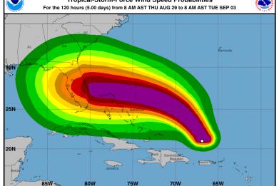 hurricane dorian category 4 florida
