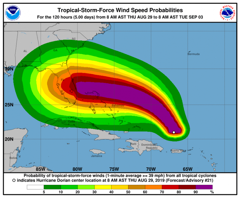 hurricane dorian category 4 florida