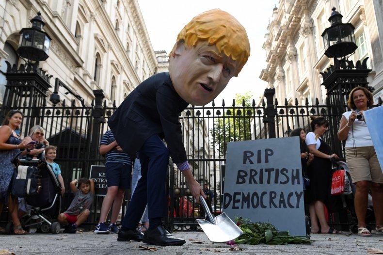uk london protest boris johnson