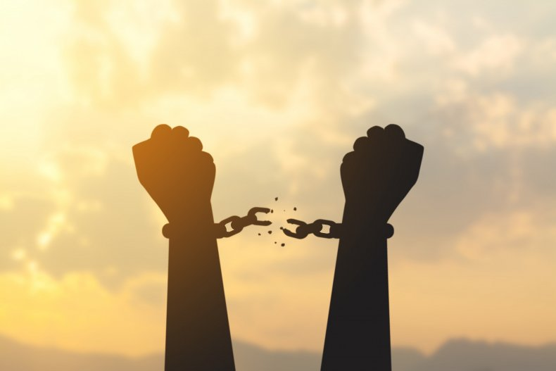 free from prison stock image