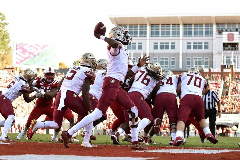 florida state university football game hurricane dorian
