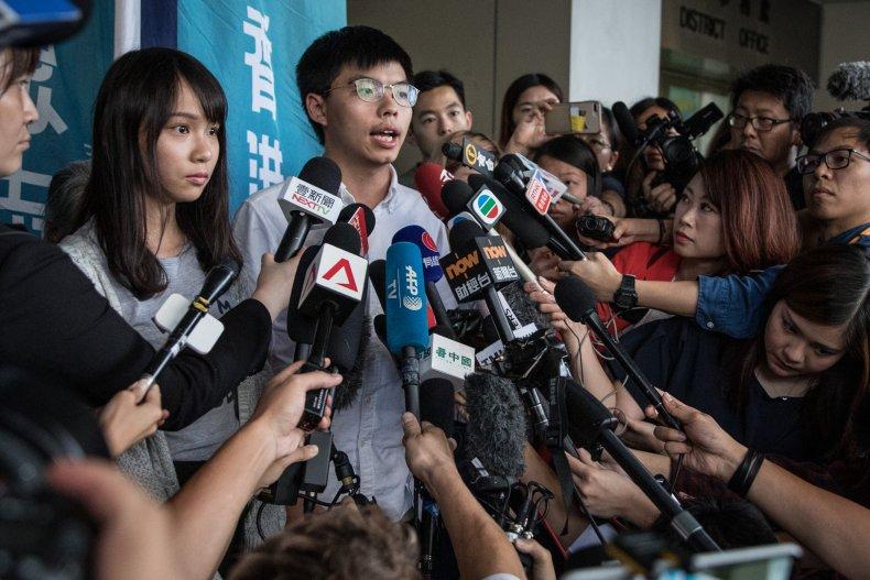 Hong kong protestors arrested