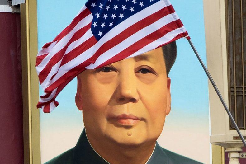 China America Democracy Flag