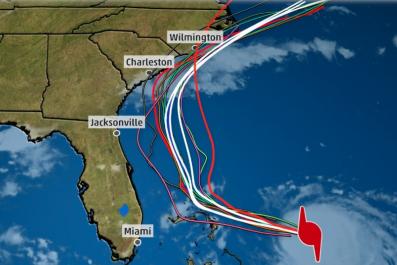 Hurricane Dorian 2pm 8/31