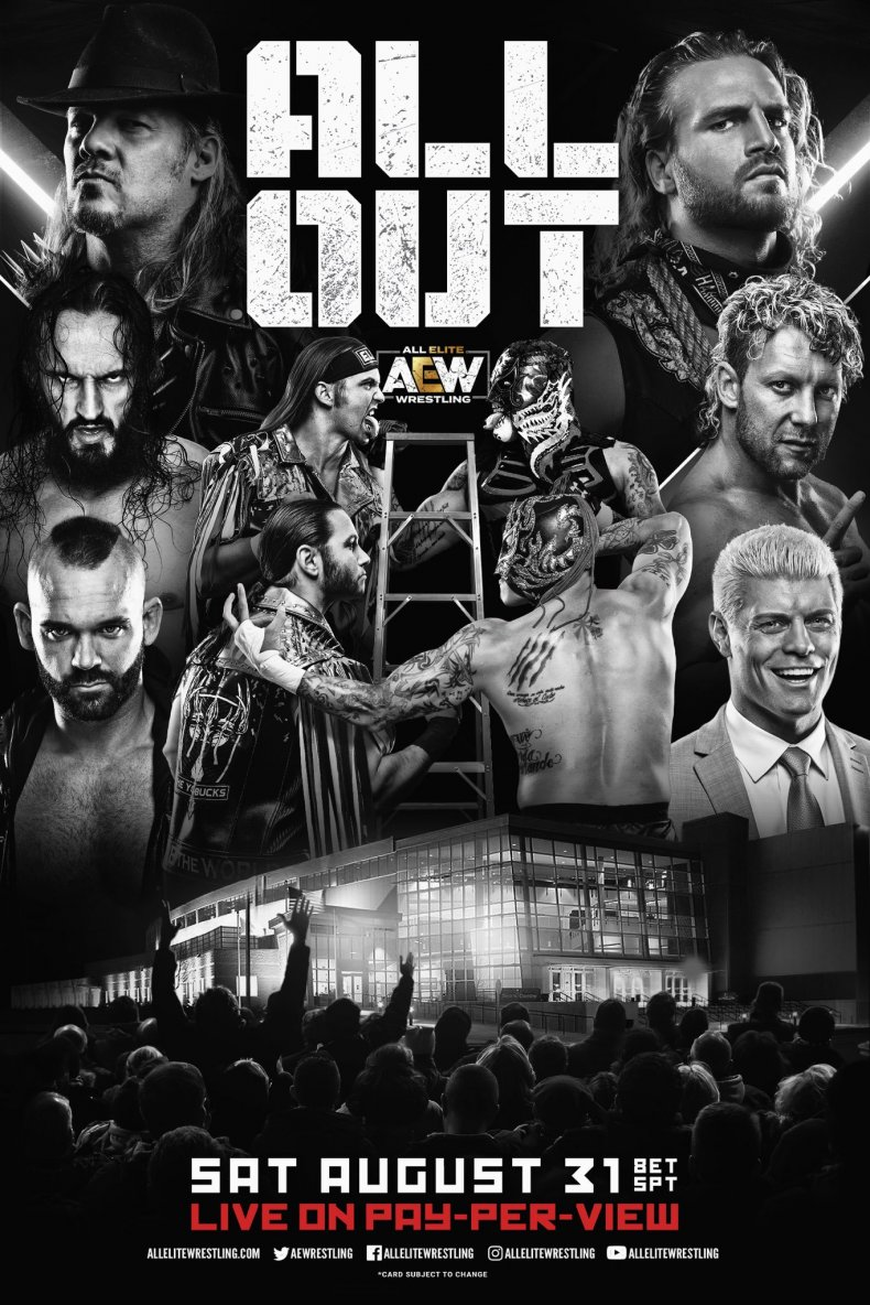 all elite wrestling all out poster