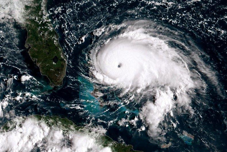 Hurricane Dorian Beats Down on Grand Bahama at 1 MPH