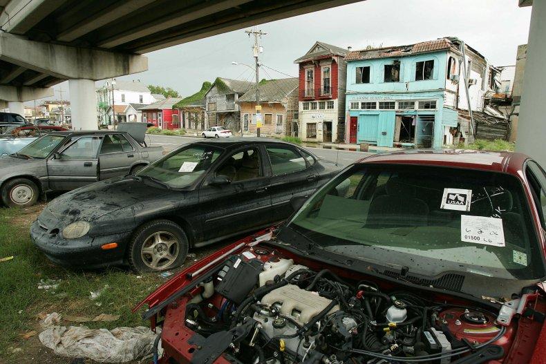 Hurricane Katrina car
