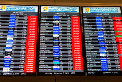 More Than 1,600 Flights Have Been Canceled Due to Hurricane Dorian