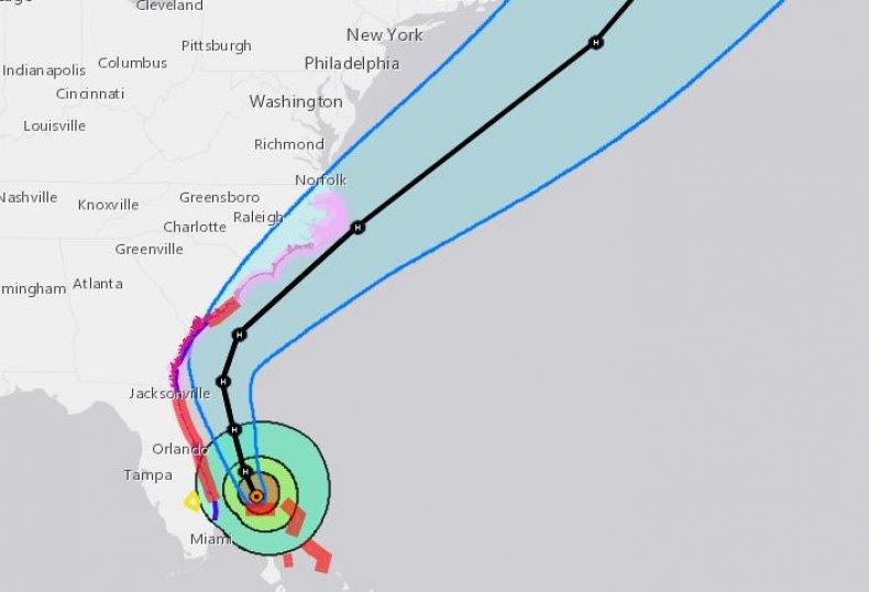 hurricane dorian path update florida sc ga