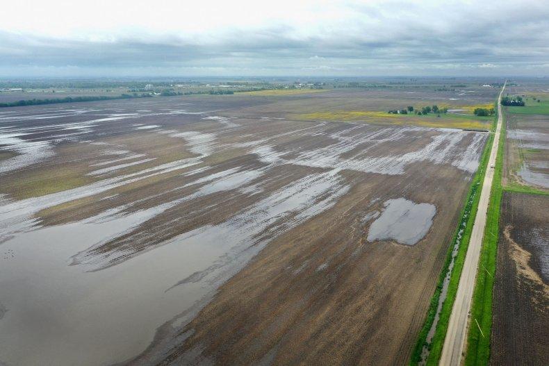 Flooding Illinois Farm