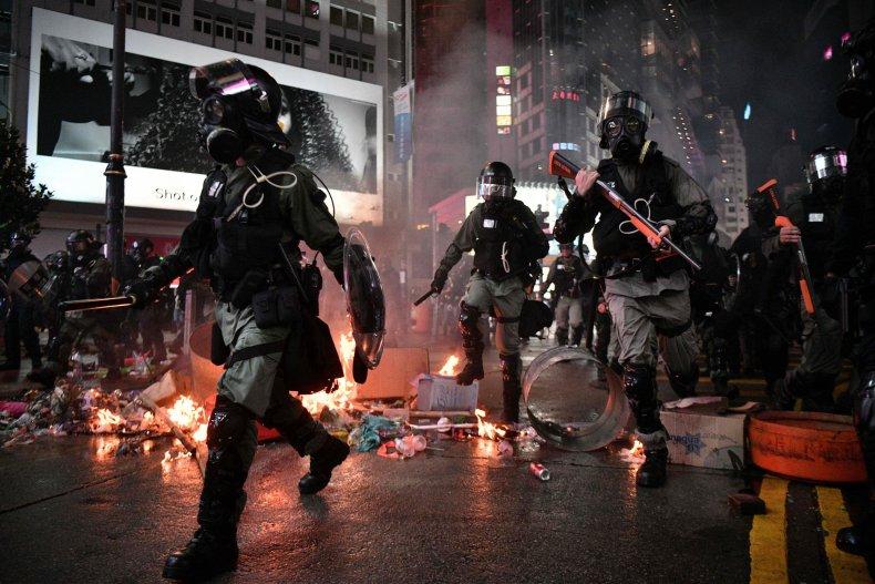 china hong kong police protests