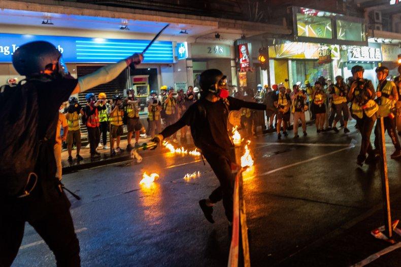 china hong kong protests police clash