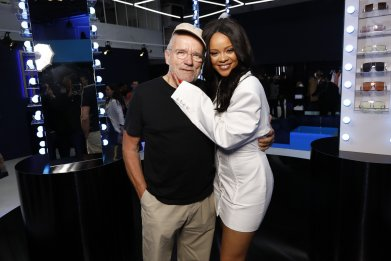 Peter Lindbergh and Rihanna