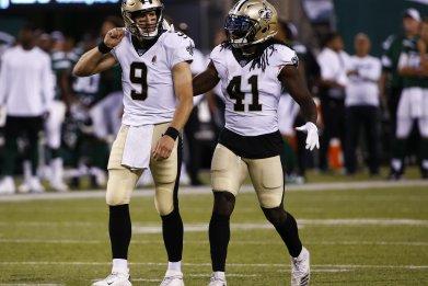 Drew Brees, Alvin Kamara, New Orleans Saints