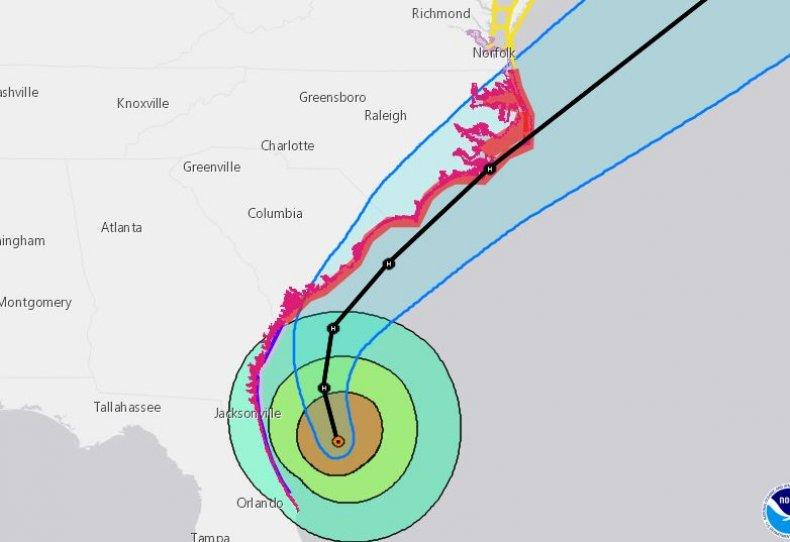 hurricane dorian path update category 2