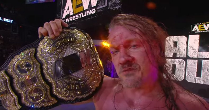 chris jericho aew world championship all out