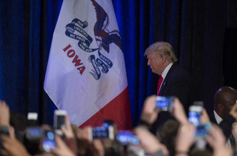 Donald Trump in Iowa in 2016