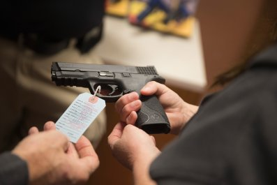 universal background check gun college poll