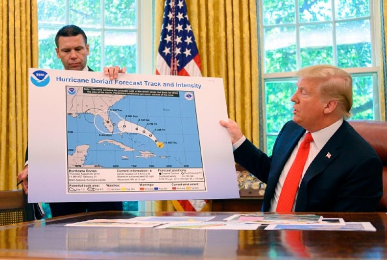 trump map on alabama hurricane dorian error