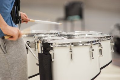 drum corps stock photo