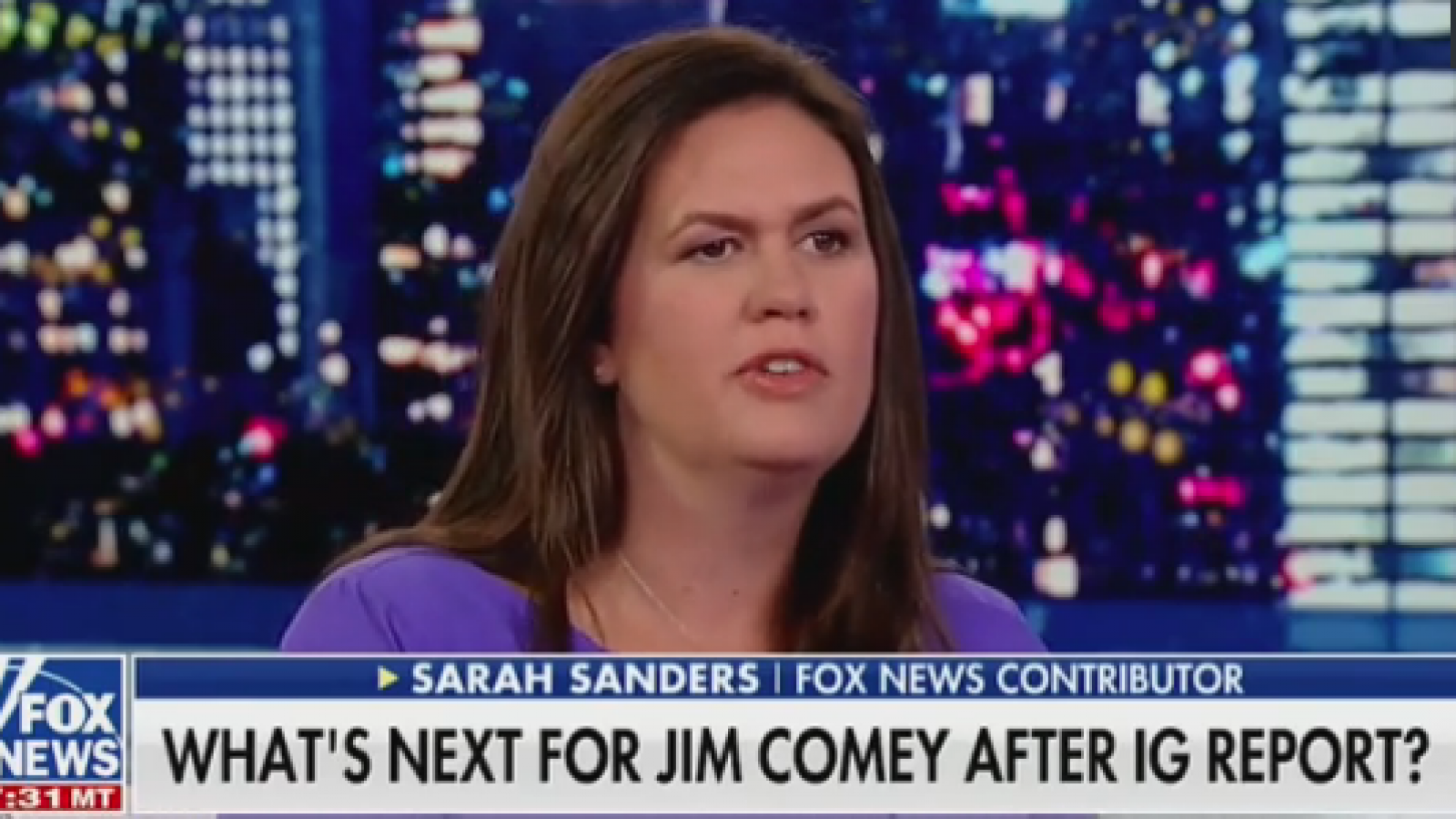 Fox News' Sarah Sanders, Jeanine Pirro Demand James Comey