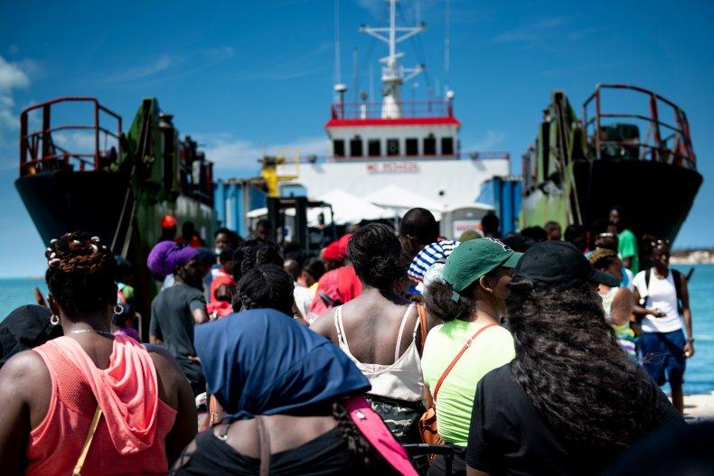 Bahamians fleeing Hurricane Dorian disaster board ship