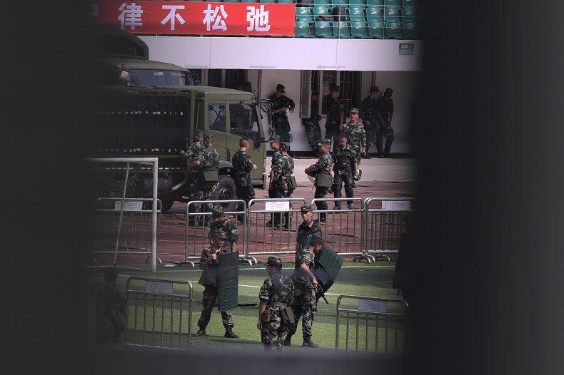 Hong Kong, China, military, troops