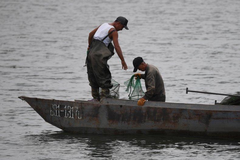 NOrth Korea, russia, rescue, sea, fishing, boat