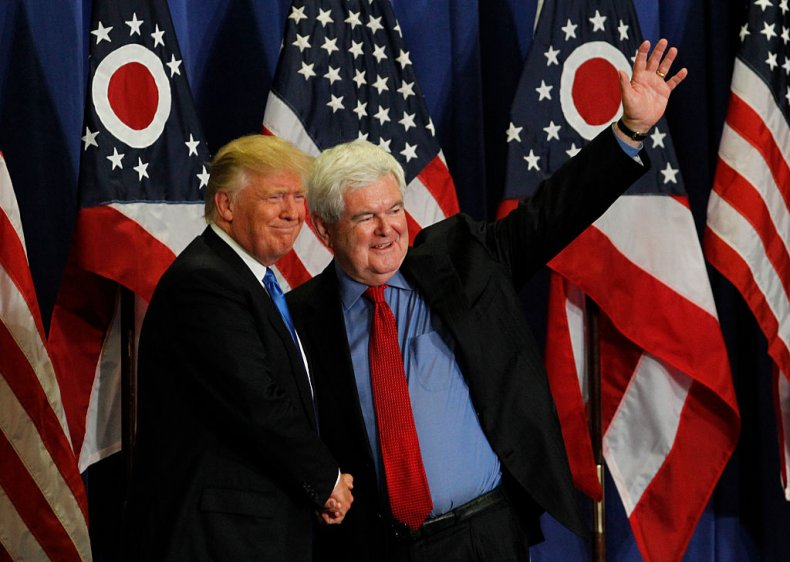 Donald Trump and Newt Gingrich