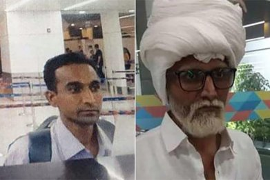 Jayesh Patel airport disguise