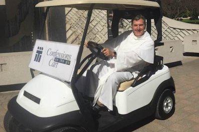 Patrick Baikauskas golf cart