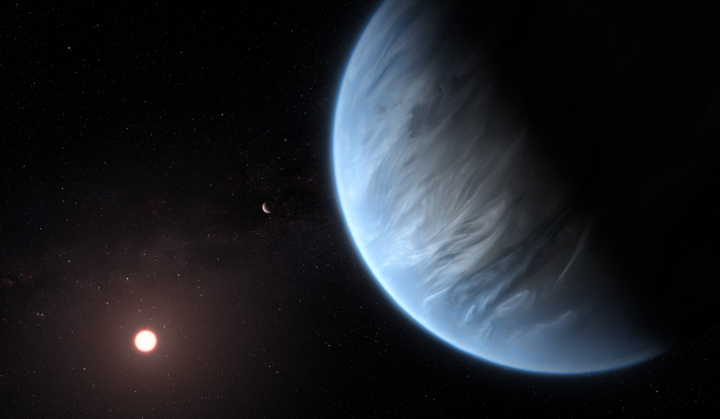 Water vapor has been found in the atmosphere of a potentially habitable super-Earth