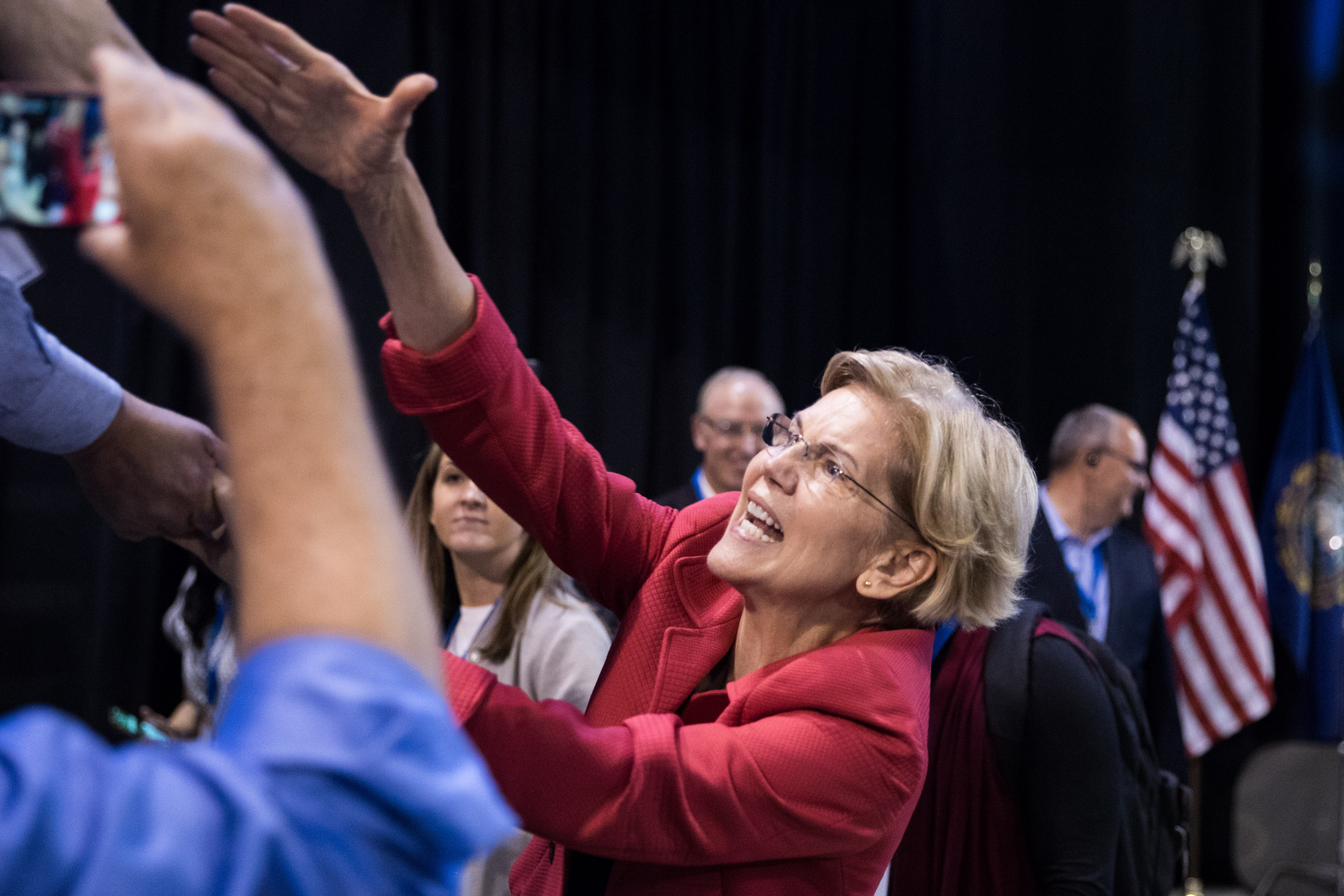 """Elizabeth Warren is surging to the top of the Democratic Party's favorability ratings, challenging complaints about her """"electability"""""""