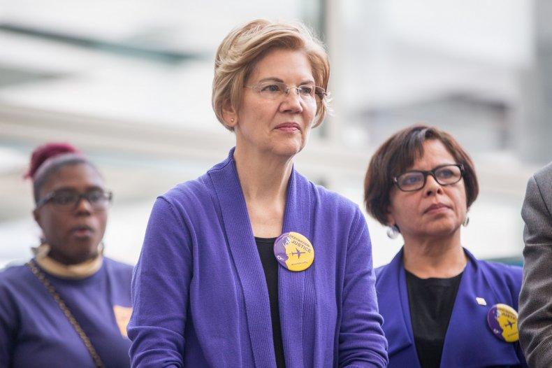 democrat debate elizabeth warren college support