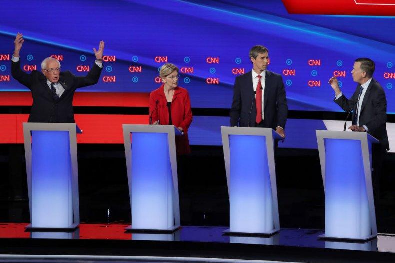 Democratic Debate Bernie Sanders Elizabeth Warren BetoO'Rourke