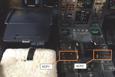 pilot spills coffee flight Atlantic melted buttons