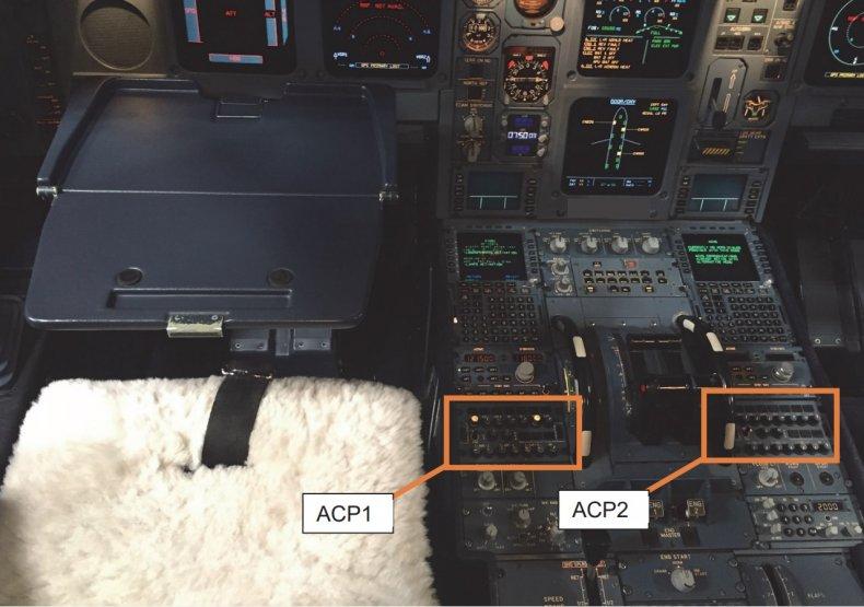 pilot spills coffee flight Atlantic melted buttons