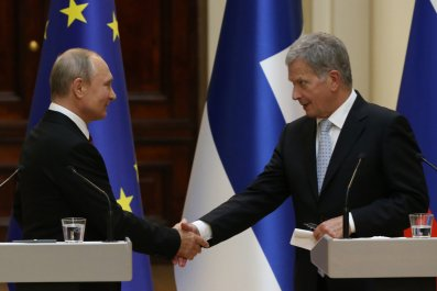 Sauli Niinisto, Vladimir Putin, Donald Trump, world