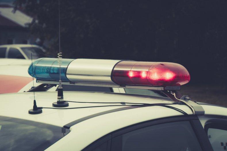 police car stock photo