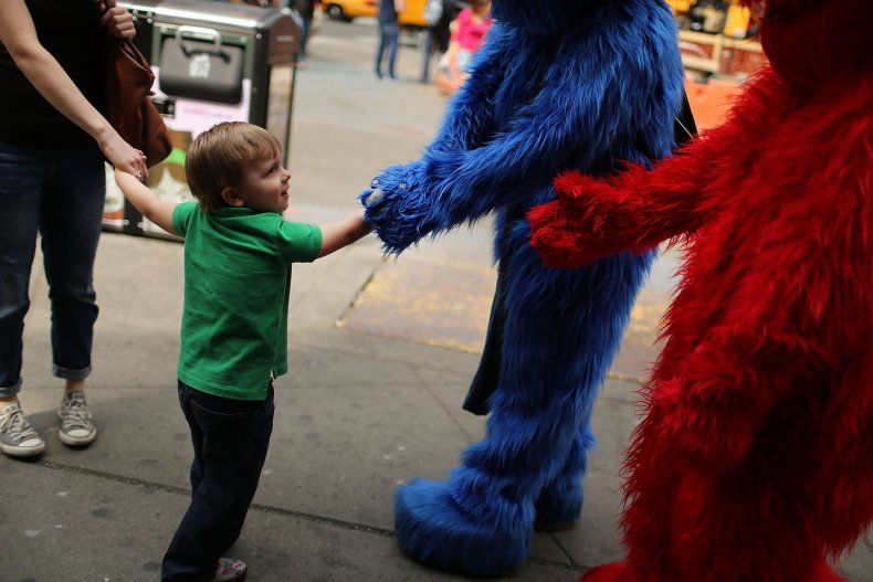 costumed characters times square