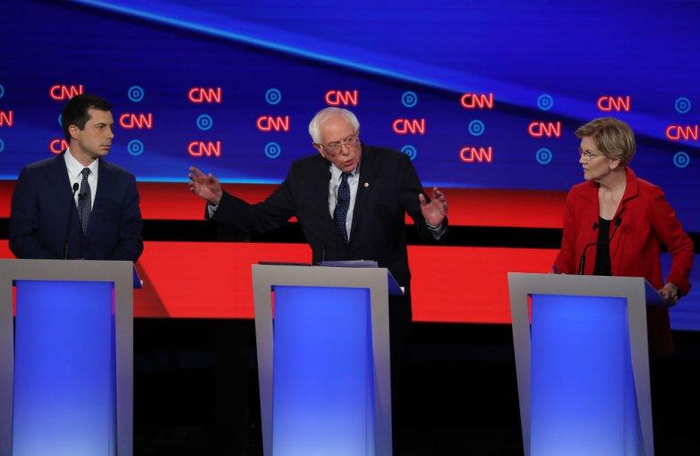 Buttigieg, Sanders and Warren