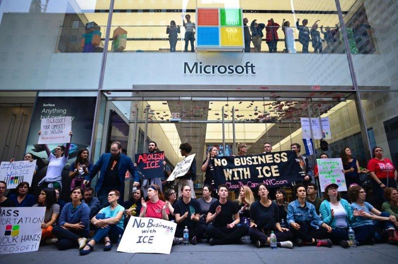 anti-ICE activists