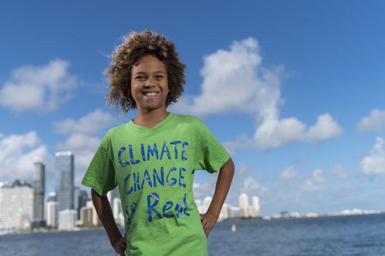 Levi Draheim, climate strike