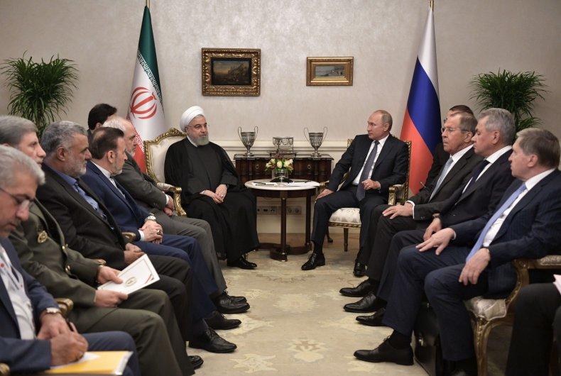 iran rouhani russia putin meeting