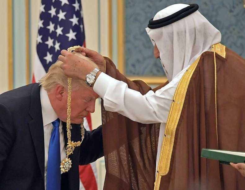 Donald Trump with King Salman