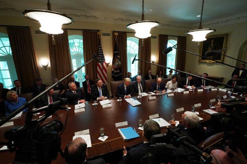 donald trump cabinet meeting former lobbyists